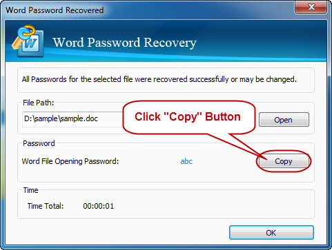 Success recover word password